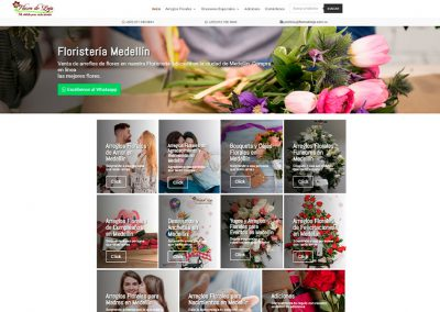 Web Flores de Lujo